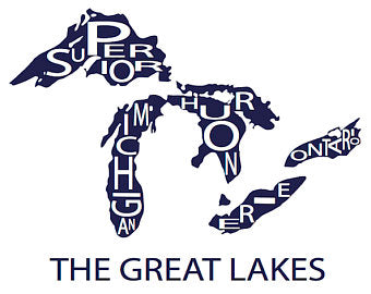 211 ($30) Map - Great Lakes - 11x14