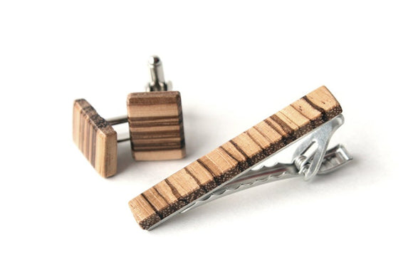 111 ($65) Set - Tie Clip and Cufflinks
