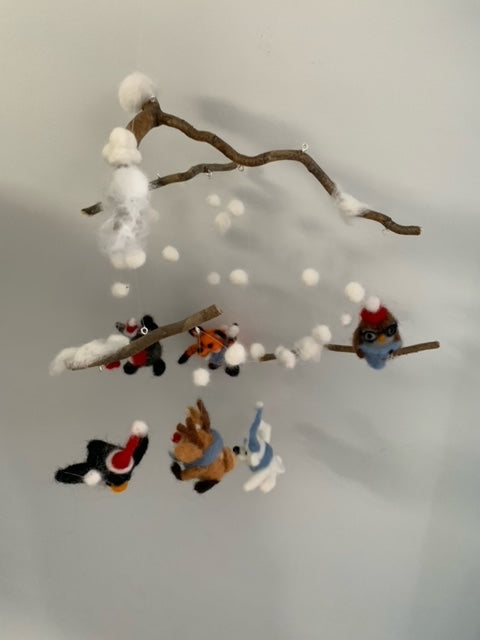 239 ($80) Mobile - Felted Christmas Items
