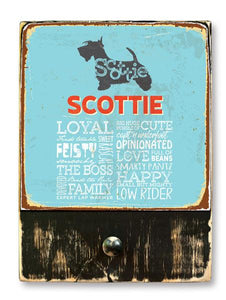 221 ($42.99) Scottie - Dog leash hanger.