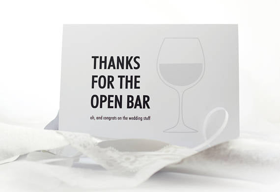 000 ($6) Card - Thanks for the Open Bar