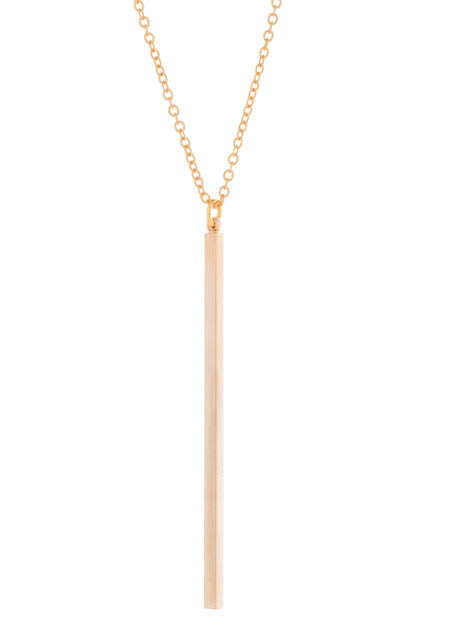 025 ($62) Electric Lines Necklace - Gold