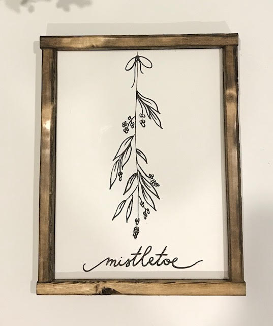 141 ($30) Sign - Mistletoe