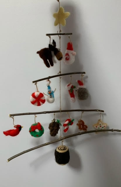239 ($130) Mobile - Felted Christmas Items