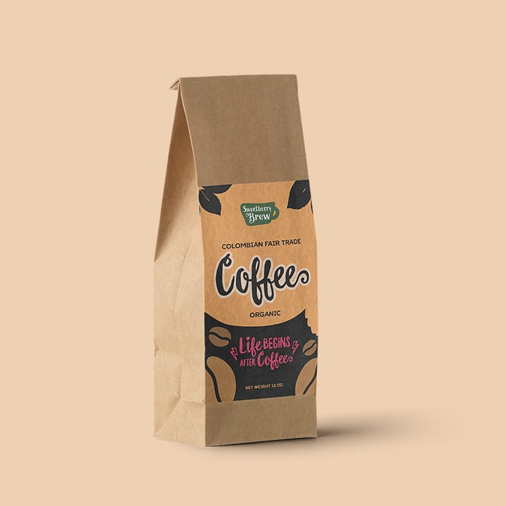 Sweetberry Brew Colombian Fair Trade Ground Coffee - FREE Shipping