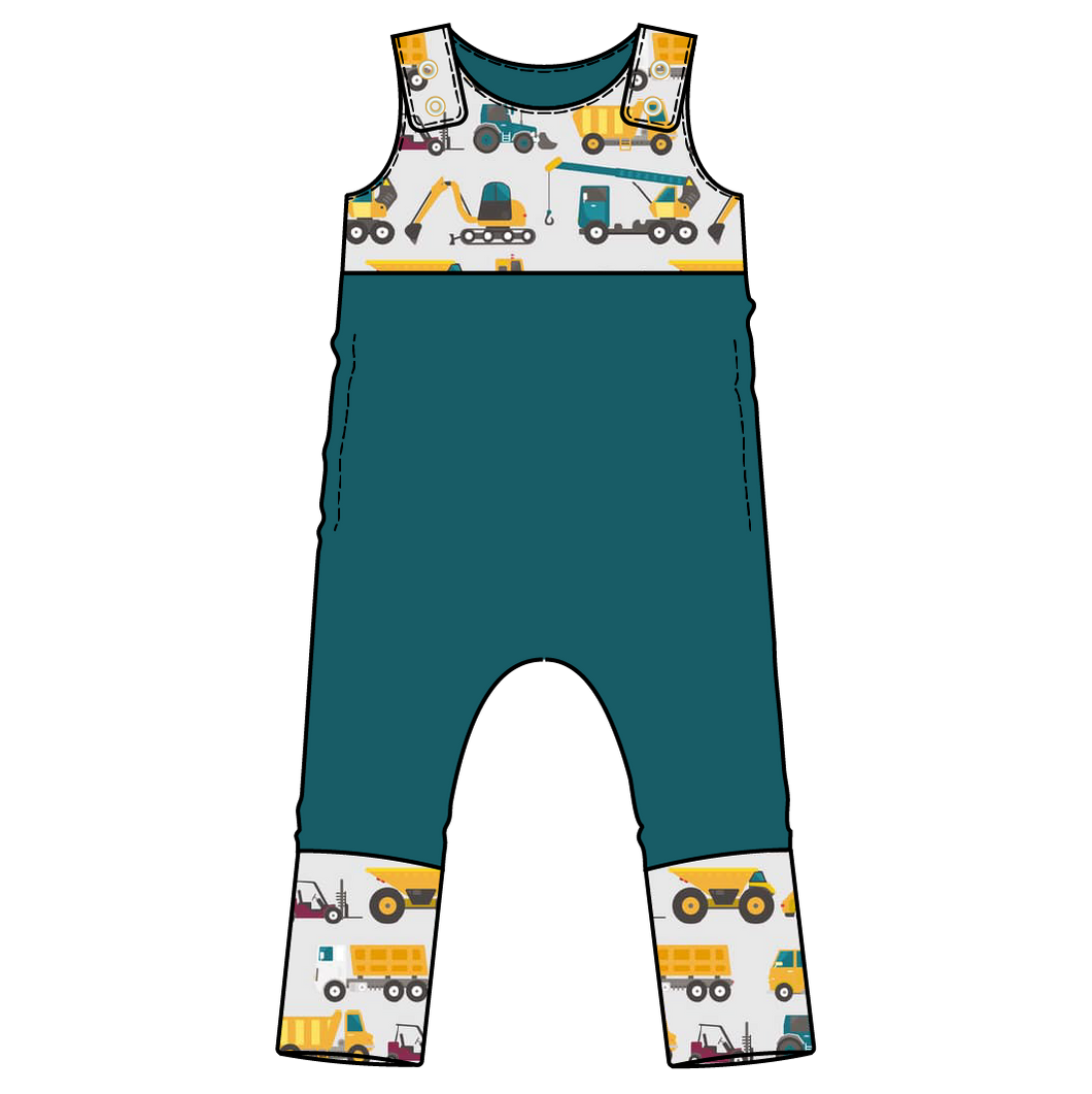 Tahoe Construction Colorblock Snap Romper