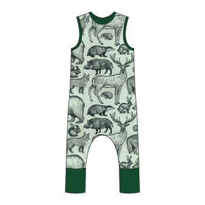 Pisgah  Full Print Pull-on Romper