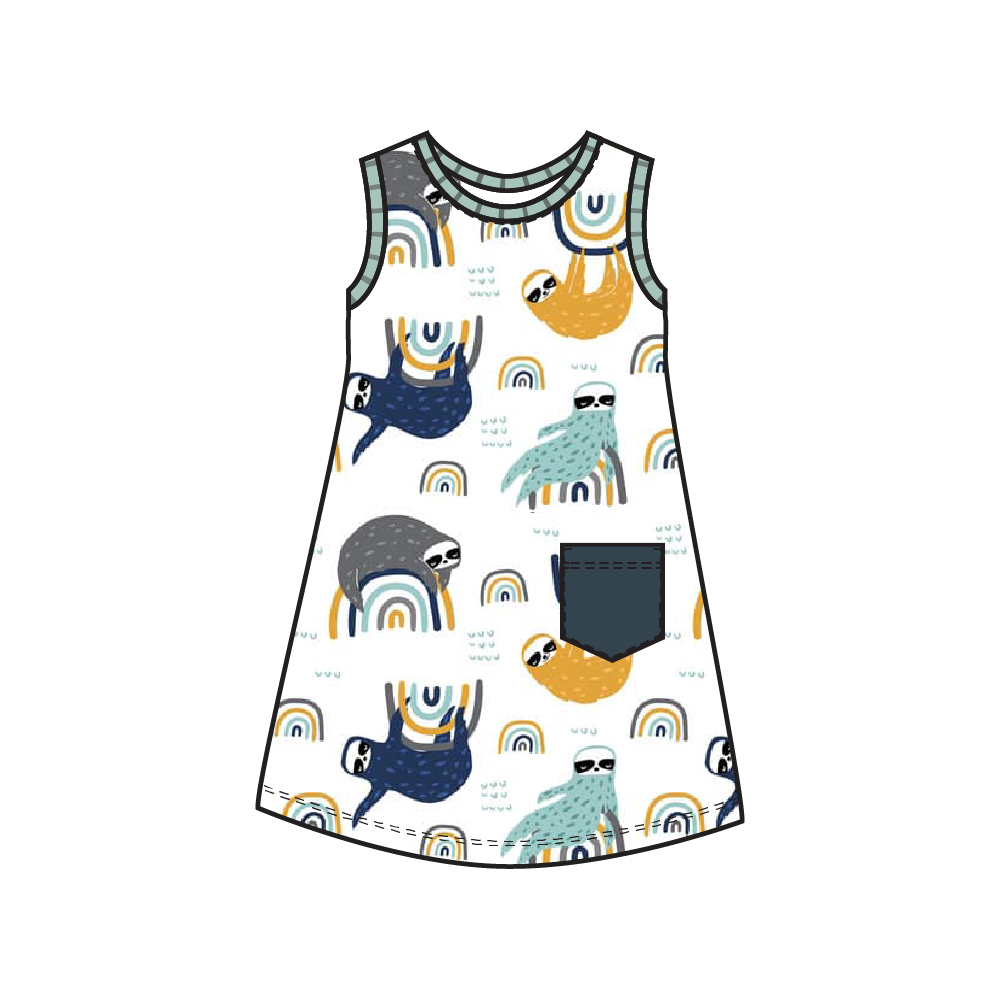 Tahoe Navy Sloth Dress