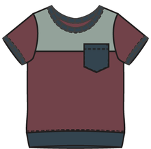 Load image into Gallery viewer, Rainier Winterberry Colorblock Tee