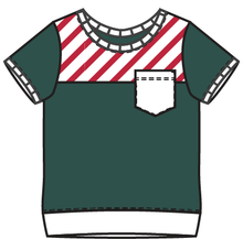 Load image into Gallery viewer, Rainier Cane Stripes Colorblock Tee