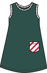 Rainier Stripes Evergreen Dress