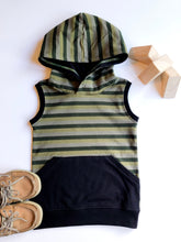 Load image into Gallery viewer, Olympia Camo Stripe Tank Hoodie
