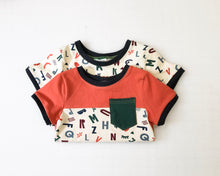 Load image into Gallery viewer, Chaco Ginger Alphabet Colorblock Tee