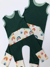 Load image into Gallery viewer, Cascade Rainbow Classic Pull-on Romper