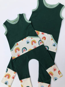 Cascade Rainbow Classic Pull-on Romper