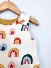 Load image into Gallery viewer, Cascade Rainbow Full Print Snap Romper