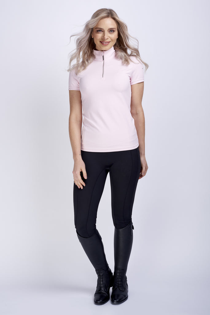 Technical Short Sleeve Shirt in Baby Pink
