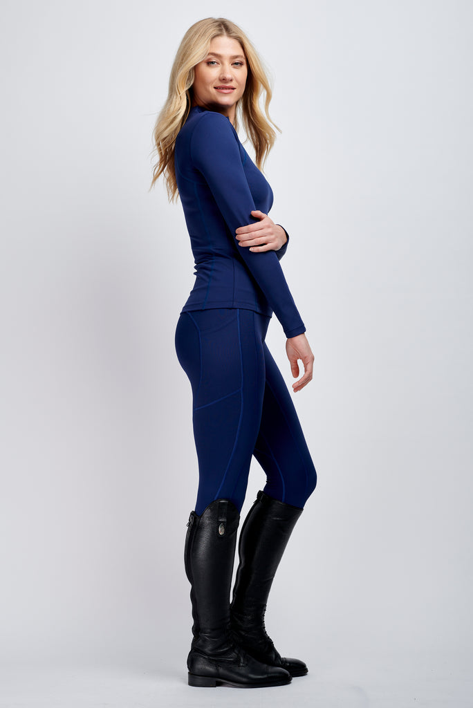 Technical Riding Leggings in Navy