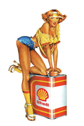 Sticker Pin-Up Rétro Shell