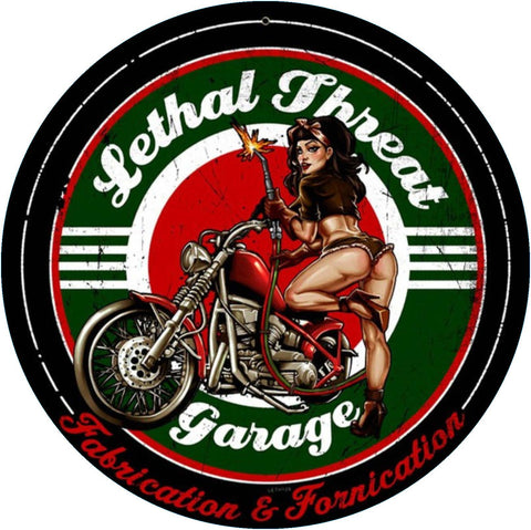Sticker Pin-Up Lethal Fhreat Garage