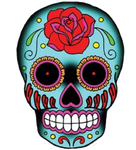 Sticker Tête de Mort Mexicaine
