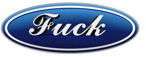 Sticker FUCK (Ford)