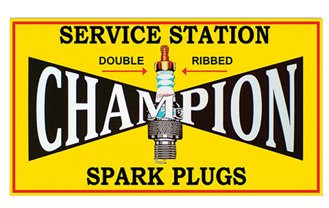 Sticker CHAMPION  SPARK PLUGS