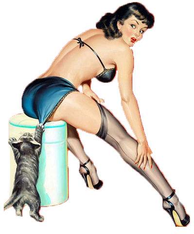 Sticker Pin-Up Rétro