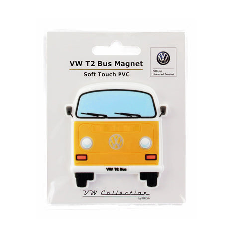VW T2 Combi Aimant en caoutchouc - Orange