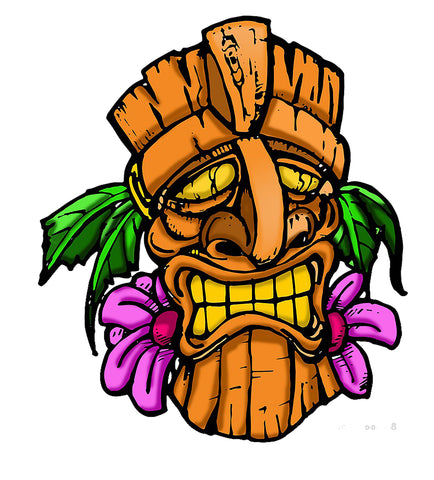 Sticker Tiki Totem