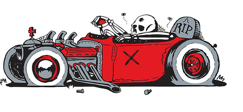 Sticker HOTROD & SKULL
