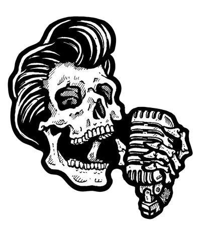 Sticker ROCKEUR SKULL
