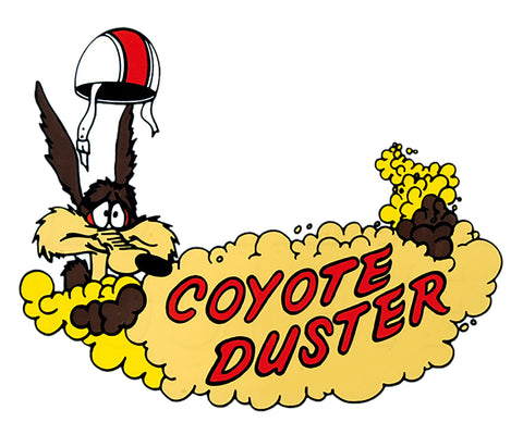 Sticker coyote duster
