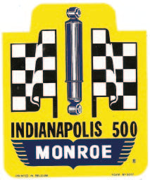 Sticker INDIANAPOLIS 500 MONROE