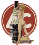 Sticker Pin-UP Bougie AC