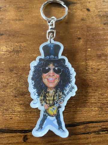 Porte-Clés Caricatures Music Legends Slash 1