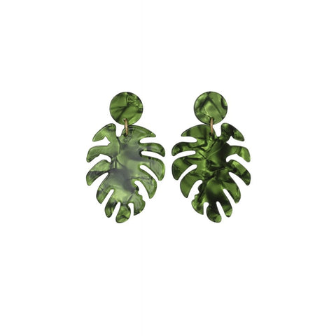 Boucles d'oreilles KIKO PALM LEAF, Rockabilly , Pin-Up , Vintage