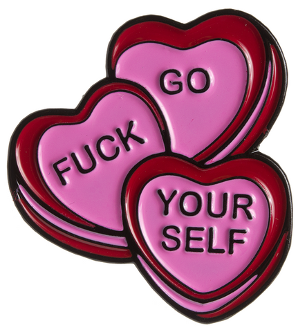 Pin's CANDY HEARTS Sourpuss