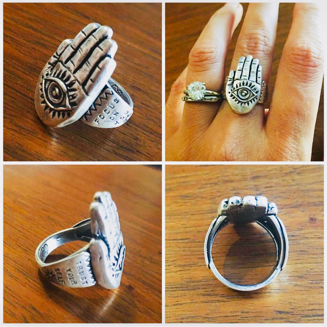 HAMSA HAND RING (available in YOUR size)