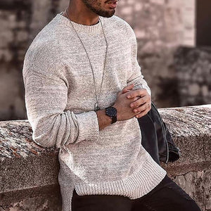 Men's Solid Colour Long Sleeve Loose Sweater