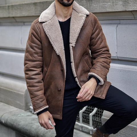Fashion suede lamb lining jacket