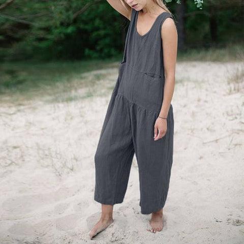 Simple Temperament Sleeveless Jumpsuit
