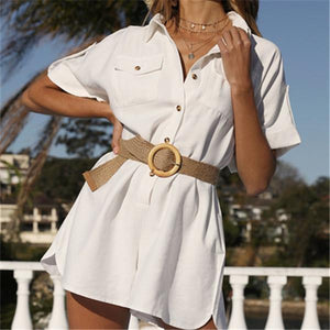 Fashion Loose Short Sleeves Romper