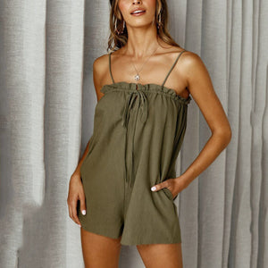 Sexy Plain Sling Rompers