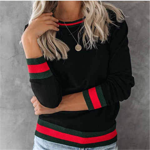 Autumn Casual Slim Round Neck Knit Top