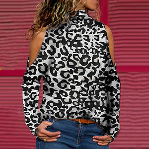 Casual Leopard Printed Long Sleeve T-Shirt