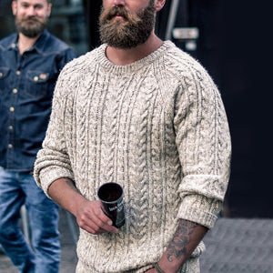 Casual Men'S Round Collar Solid Color Knitted Sweater