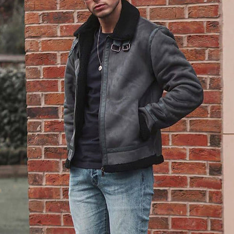 Dark grey stitching men's jacket