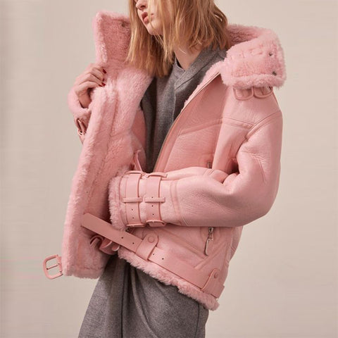 Women's Individuality Pure Colour Fluff Jacket