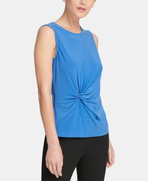 Women's Tank Top Cobalt Small Stretch Twist-Front S
